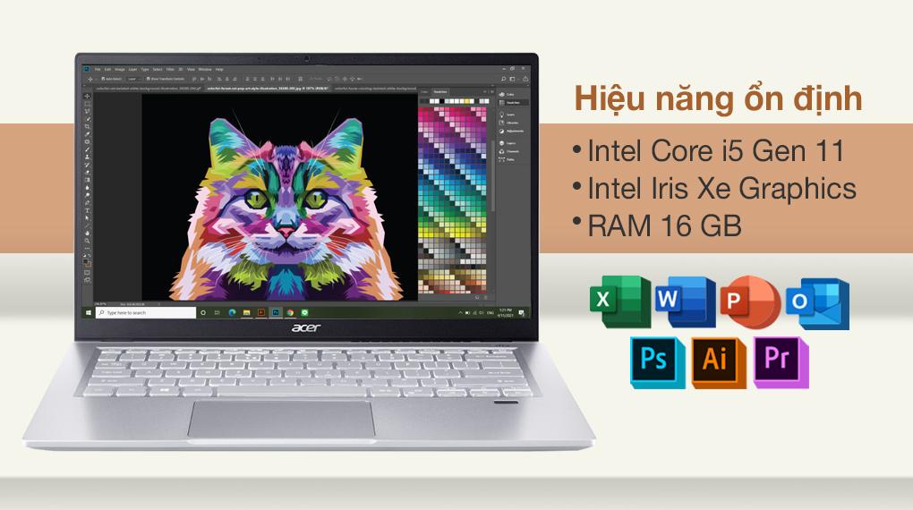 Acer Swift 3 SF314 511 56G1 i5 1135G7 (NX.ABLSV.002) - Cấu hình