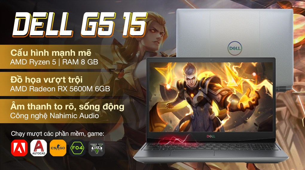 Dell Gaming G5 15 5505 R5 4600H (70252801)