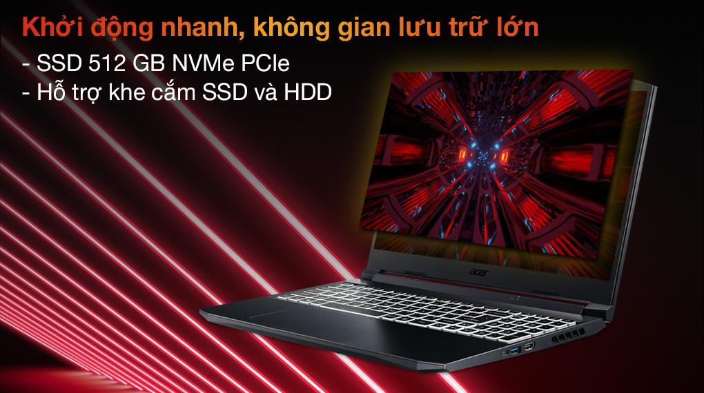 Acer Nitro 5 Gaming AN515 57 74NU i7 11800H (NH.QD9SV.001.) - SSD