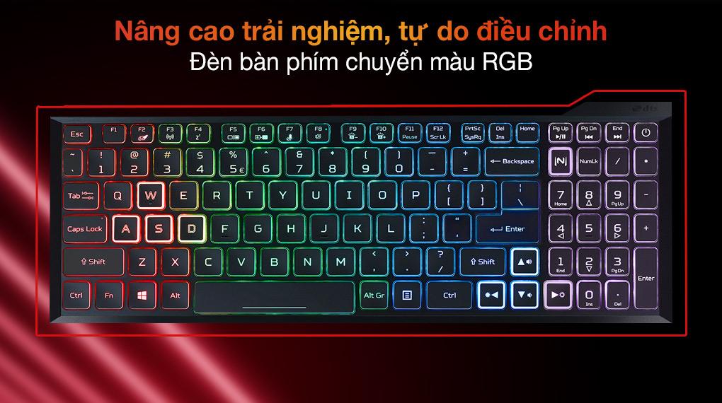 Acer Nitro 5 Gaming AN515 57 74NU i7 11800H (NH.QD9SV.001.) - Bàn phím