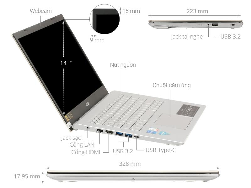 Acer Aspire A514 54 53T8 i5 1135G7/8GB/1TB SSD/Win10 (NX.A2ASV.006)