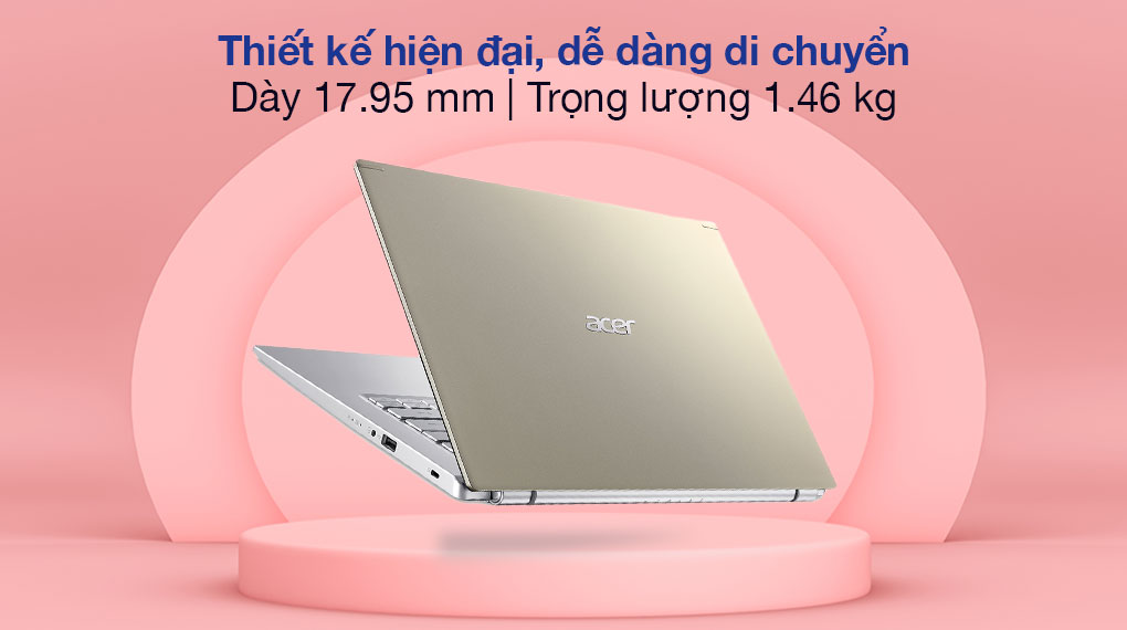Acer Aspire A514 54 53T8 i5 1135G7 (NX.A2ASV.006) - Thiết kế