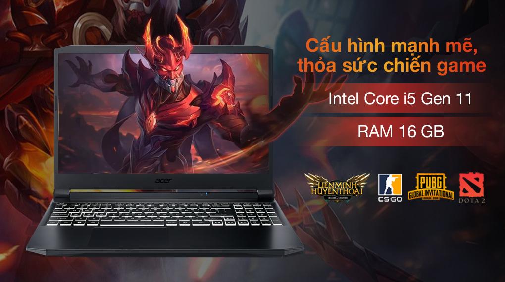 Acer Nitro 5 Gaming AN515 57 50FT i5 11400H (NH.QD8SV.003) - Cấu hình