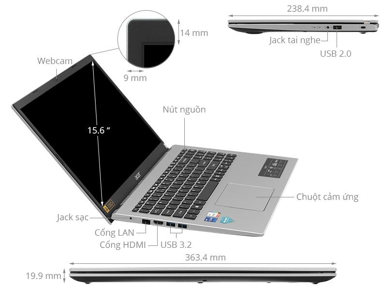 Acer Aspire 3 A315 58G 3597 i3 1115G4/8GB/256GB/2GB MX350/Win10 (NX.ADUSV.006)