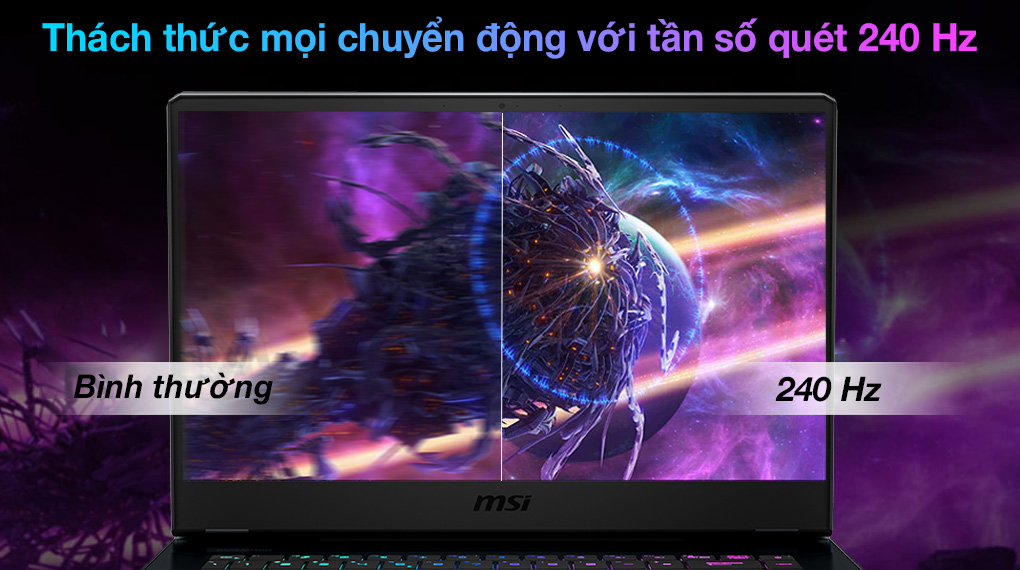 MSI Gaming GE66 Raider 11UH i7 11800H (259VN) - Tần số quét