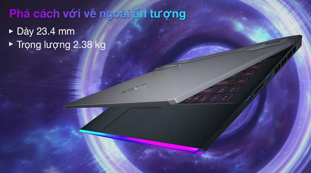 MSI Gaming GE66 Raider 11UH i7 11800H (259VN) - Thiết kế