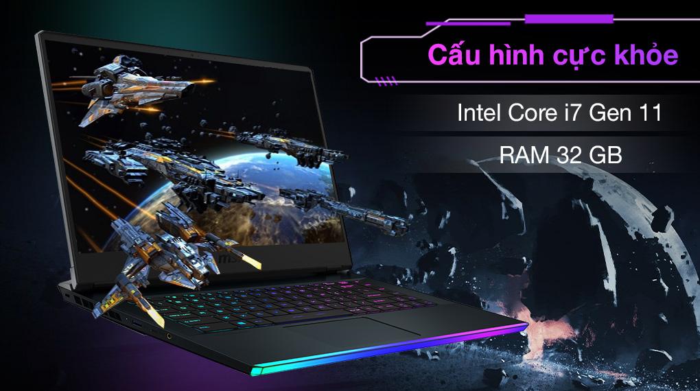 MSI Gaming GE66 Raider 11UH i7 11800H (259VN) - Cấu hình