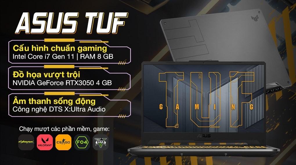 Asus TUF Gaming FX506HCB i7 11800H (HN141T)