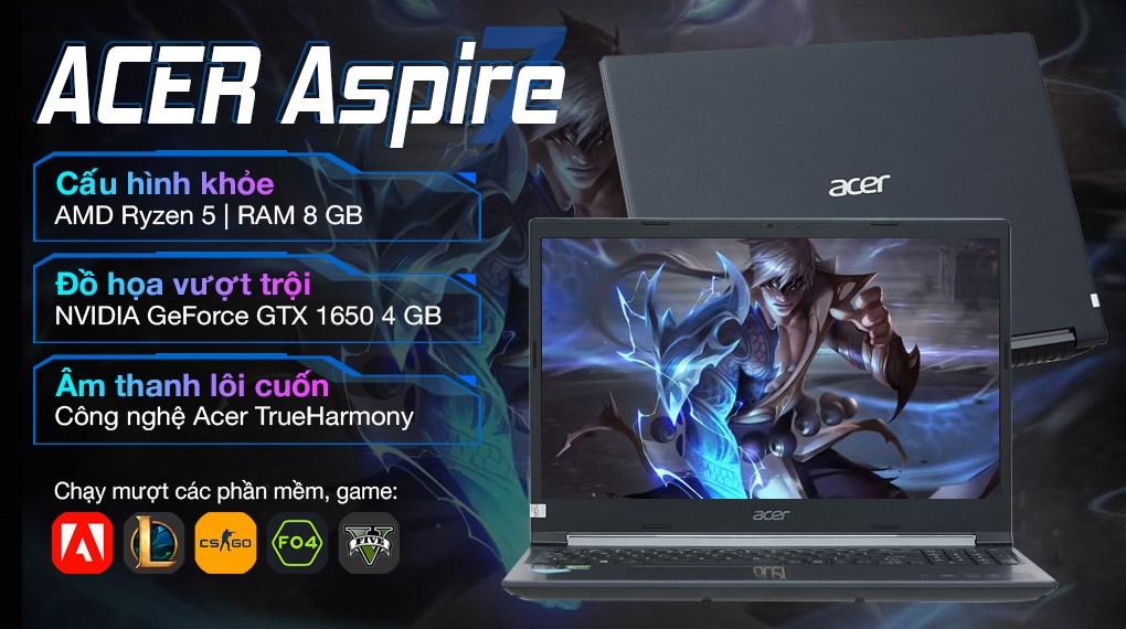 Acer Aspire 7 Gaming A715 42G R6ZR R5 5500U (NH.QAYSV.003)
