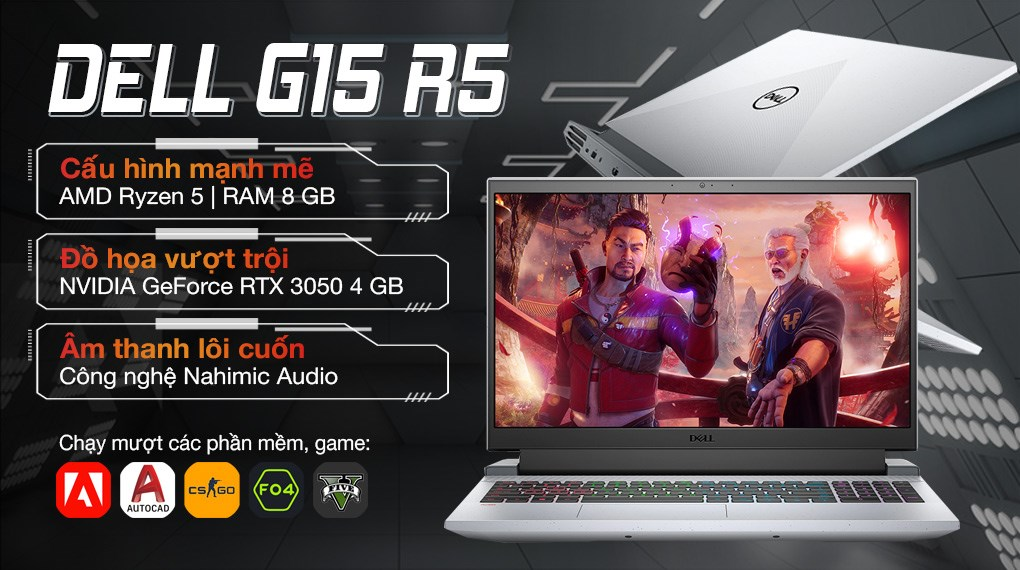 Dell Gaming G15 5515 R5 5600H (P105F004AGR)