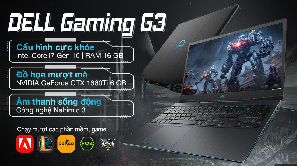 Dell Gaming G3 i7 10750H (P89F002G3500B)
