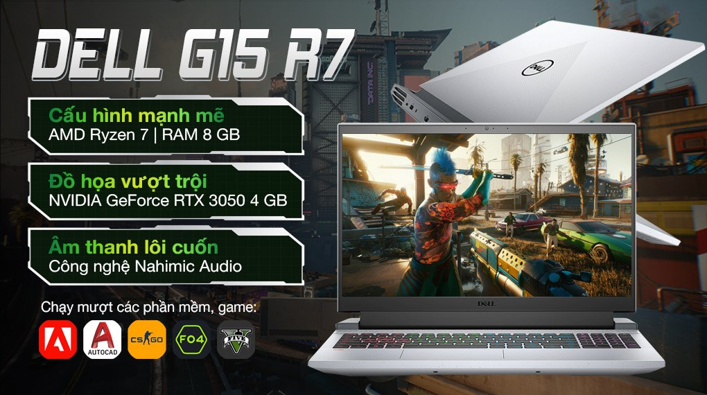 Dell Gaming G15 5515 R7 5800H (70258049)