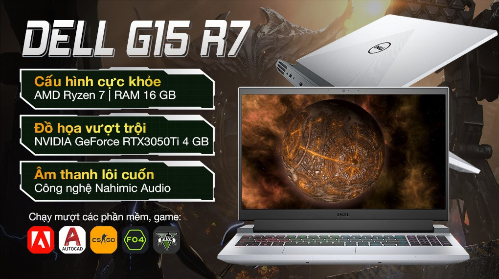 Dell Gaming G15 5515 R7 5800H (70258051)
