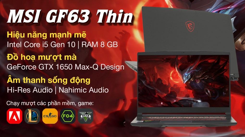 MSI Gaming GF63 Thin 10SC i5 10500H (622VN)