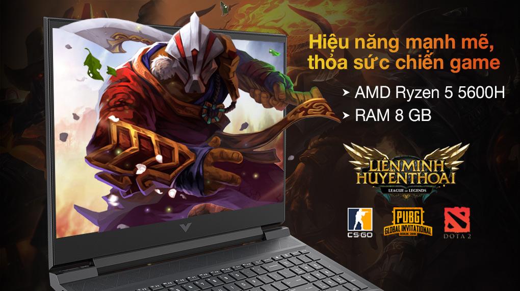 HP Gaming VICTUS 16 e0175AX R5 5600H (4R0U8PA) - Cấu hình