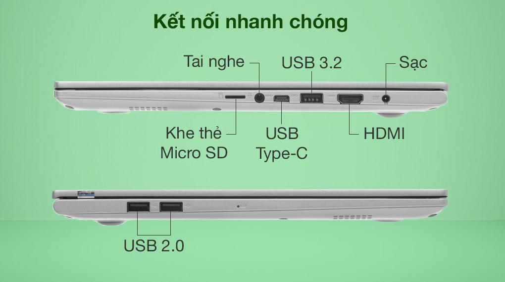 Asus VivoBook A515EA i3 1115G4 (BQ1530T) - Cổng kết nối