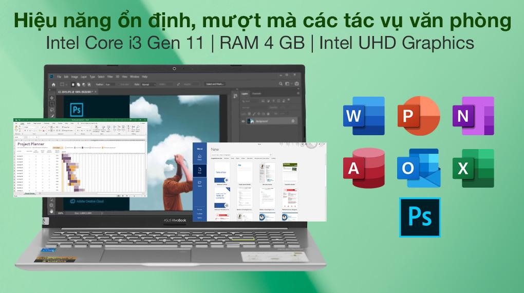 Asus VivoBook A515EA i3 1115G4 (BQ1530T) - Cấu hình