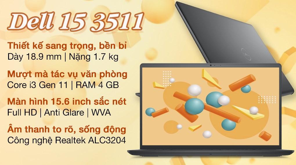 Dell Inspiron 15 3511 i3 1115G4 (P112F001ABL)