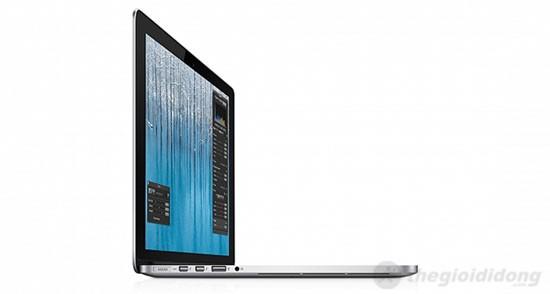 Khe tản nhiệt của MacBook Pro MC 975 nằm sát cạnh dưới của máy hoạt động hiệu quả