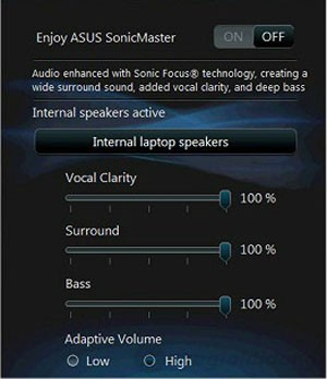 Tính năng SonicMaster Lite cho bạn cảm nhận âm thanh theo phong cách mới từ Asus K55A