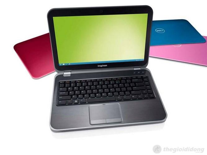 Dell Inspiron 15R N5520 với lớp vỏ máy giả nhôm xước nhiều màu sắc