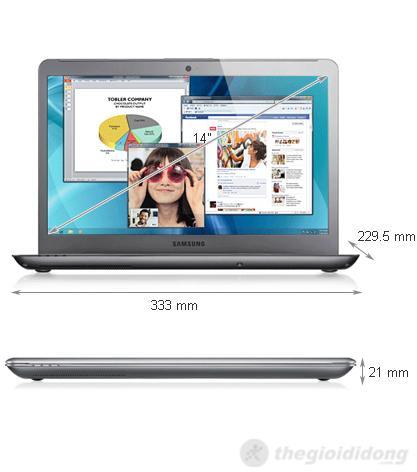 Kích thước của Samsung series 5 530U4C 53314G75GW8
