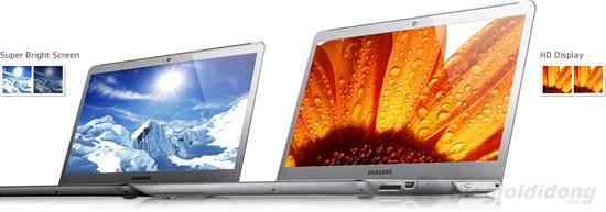 Màn hình của  530U4C sở hữu nhiều công nghệ màn hình tiên tiến của Samsung