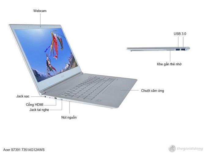 Mô tả chức năng của Acer Aspire S7 391 73514G12aws