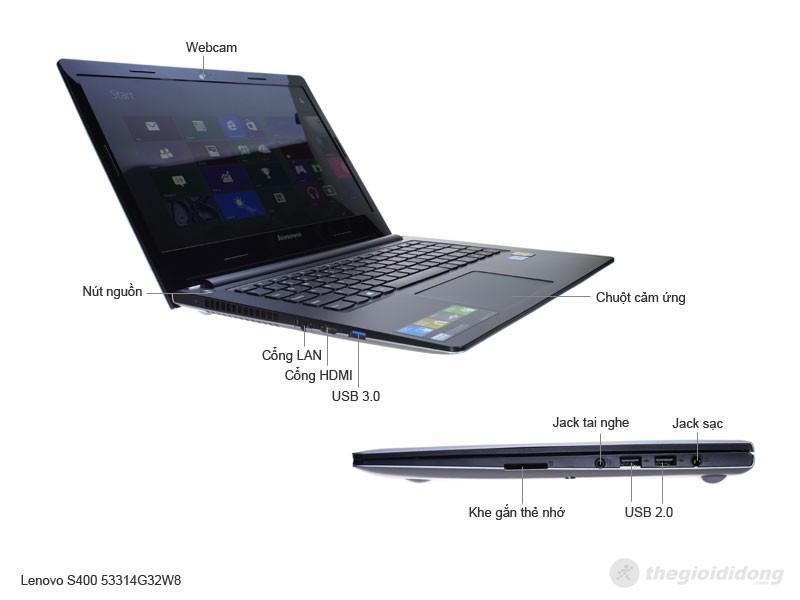 Mô tả tính năng của Lenovo IdeaPad S400 53314G50