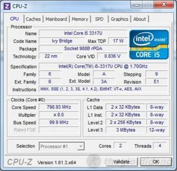 Thông số của Chip Core i5 trên máy