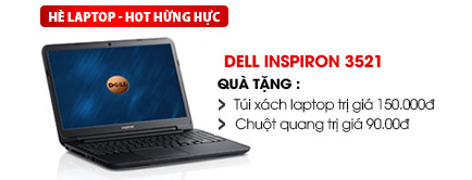 Laptop Dell Inspiron 3521 i3 3217U/4G/500G