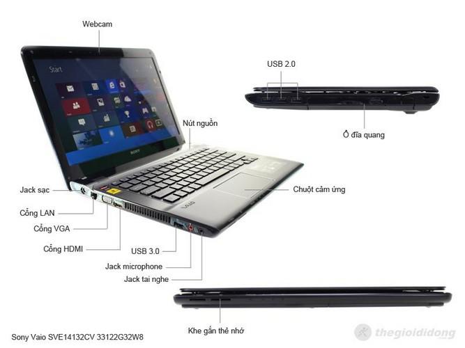 Sony Vaio SVE14132CV 33122G32W8 mô tả chức năng