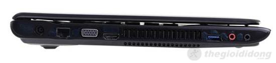Cạnh trái của Sony Vaio SVE14132CV có đầy đủ các cổng kết nối