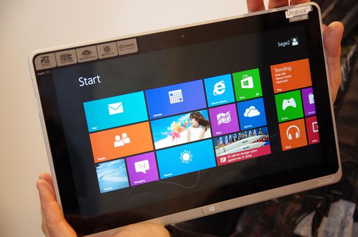 Acer Aspire P3 171 sử dụng hệ điều hành Windows 8