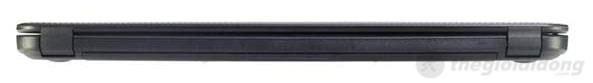 Cạnh sau của Dell Inspiron 3521 2372G50 được thiết kế gọn, chắc chắn