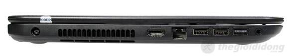 Cạnh trái của Dell Inspiron 3521