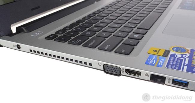 ASUS A46CA 2362G50 có bàn phím dạng chiclet