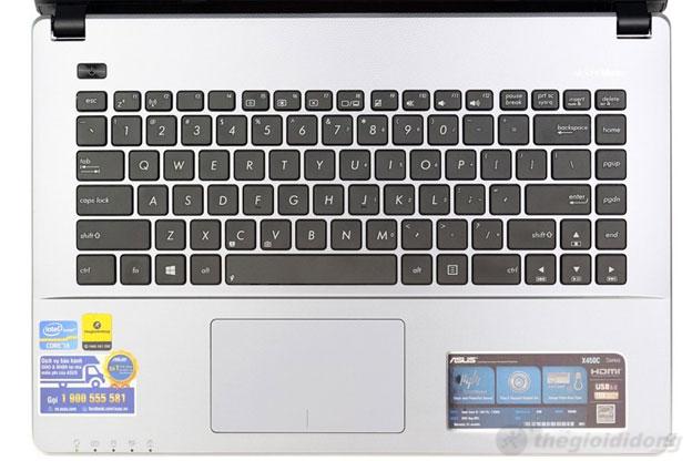 Asus X450CA với một bàn phím tốt, chuột nhạy bén