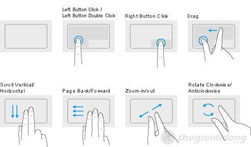 Touchpad của Vaio Fit 14E khá rộng rãi, thuận tiện trong thao tác