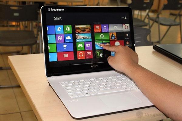 Vaio Fit 14E với màn hình 14 inch hỗ trợ cảm ứng trên Windows 8