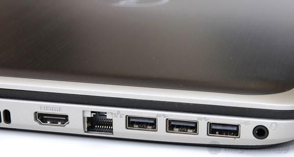 Inspiron 5537 các cổng kết nối HDMI, LAN, USB