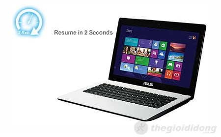 Asus X451CA công nghệ instant on