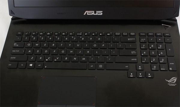 Asus G750JW bàn phím chuyên dụng cho game thủ