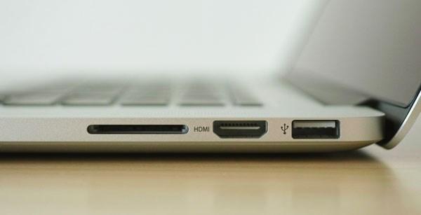 Macbook Pro ME293 hdmi, usb 3.0