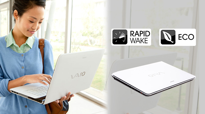 Sony Vaio Fit SVF Rapid Wake + Eco