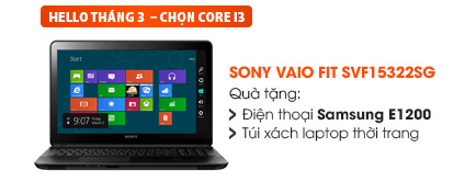 Laptop Sony Vaio Fit SVF15322SG 34002G50W8