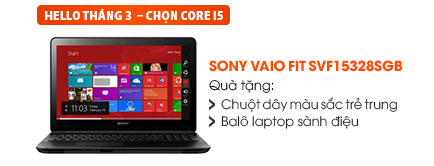 Laptop Sony Vaio Fit SVF15328SGB i5 4200U/4G/500G/VGA 1