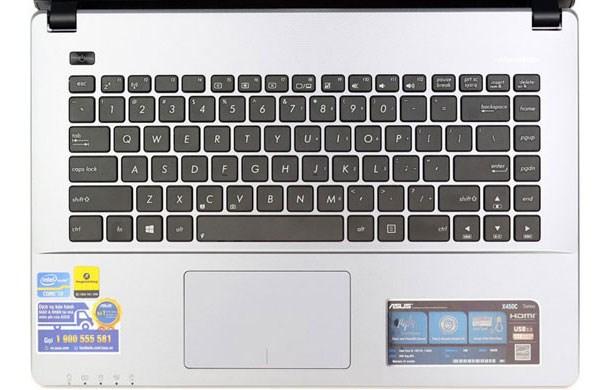 Asus X450CA touchpad và bàn phím chiclet