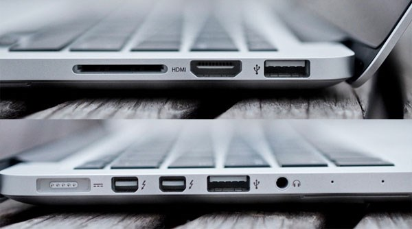Macbook Pro Me864 hdmi, usb 3.0, thunderbolt 2