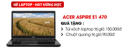 Laptop Acer Aspire E1 470 i3 3217U/4G/500G